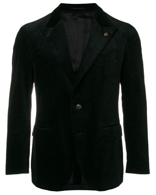Gabriele Pasini Black Classic Fitted Blazer for men