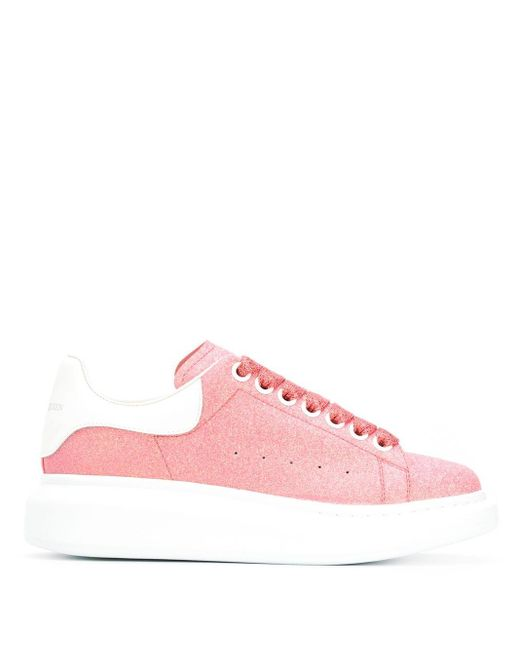 Alexander McQueen ピンク スパークル オーバーサイズ スニーカー Pink