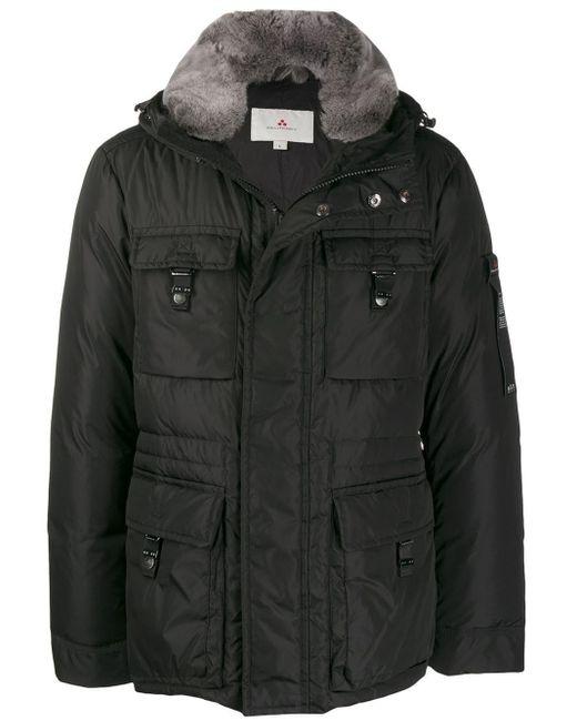 Peuterey Black Hooded Down Jacket