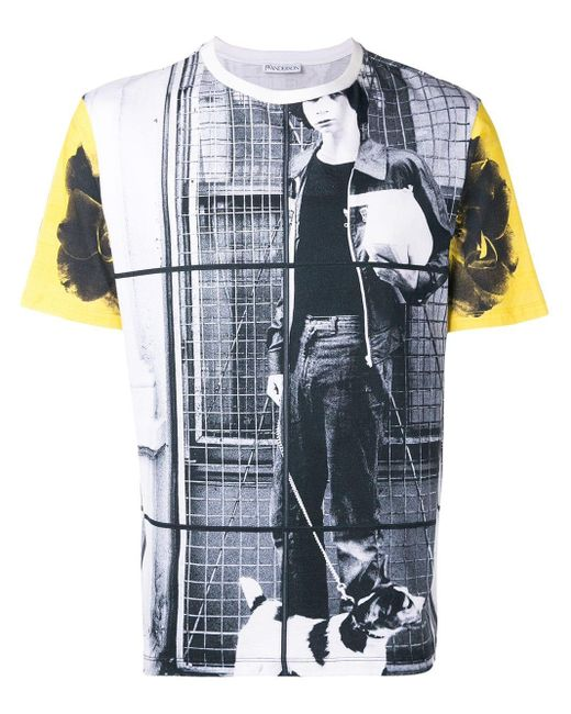メンズ J.W. Anderson Gilbert & George Dog Tシャツ Blue