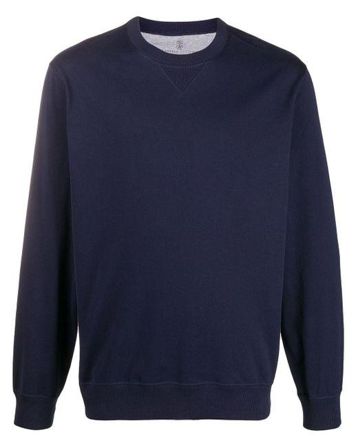 メンズ Brunello Cucinelli クルーネック スウェットシャツ Blue