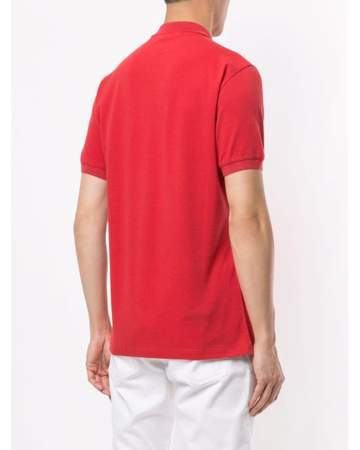 Рубашка-поло С Короткими Рукавами Brunello Cucinelli для него, цвет: Red