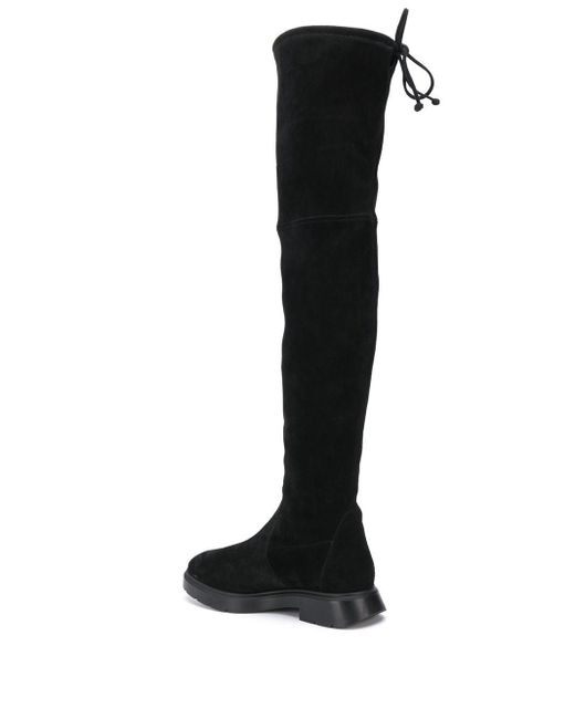 Ботфорты Kristina Stuart Weitzman, цвет: Black
