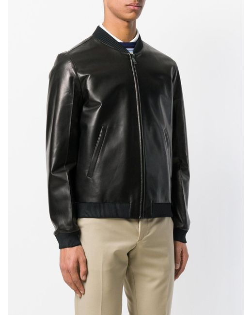 dc4122f17e5f ... Prada - Black Bomber Jacket for Men - Lyst ...