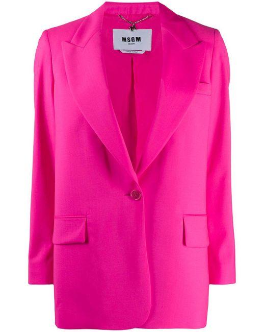 MSGM ロングライン ジャケット Pink