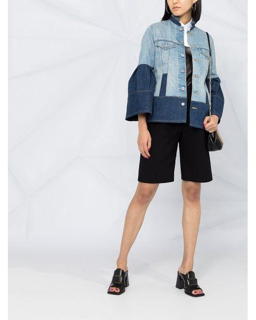 Junya Watanabe コントラストパネル デニムジャケット Blue