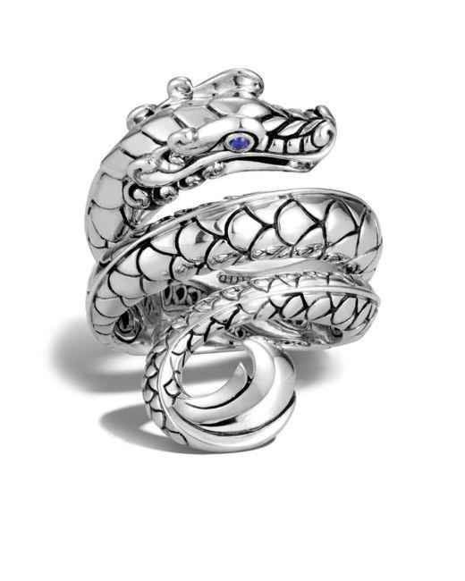 John Hardy Metallic Legends Naga Sapphire Ring