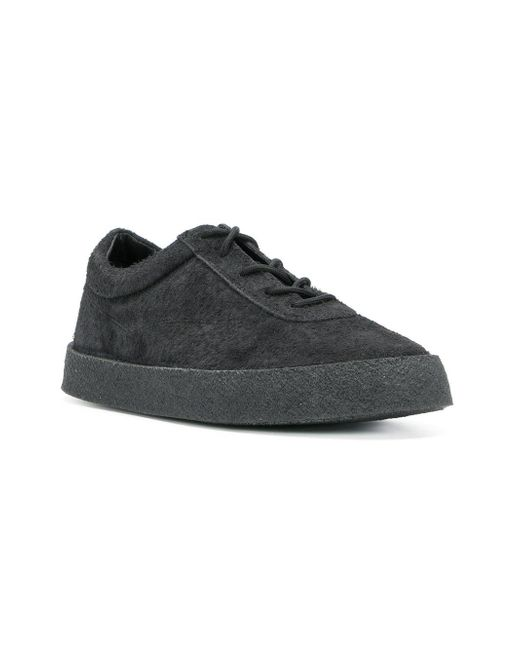 4c350f1ee77 ... Yeezy - Black Season 6 Crepe Sneakers for Men - Lyst ...