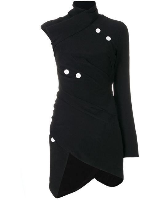 Асимметричный Топ С Пуговицами Proenza Schouler, цвет: Black