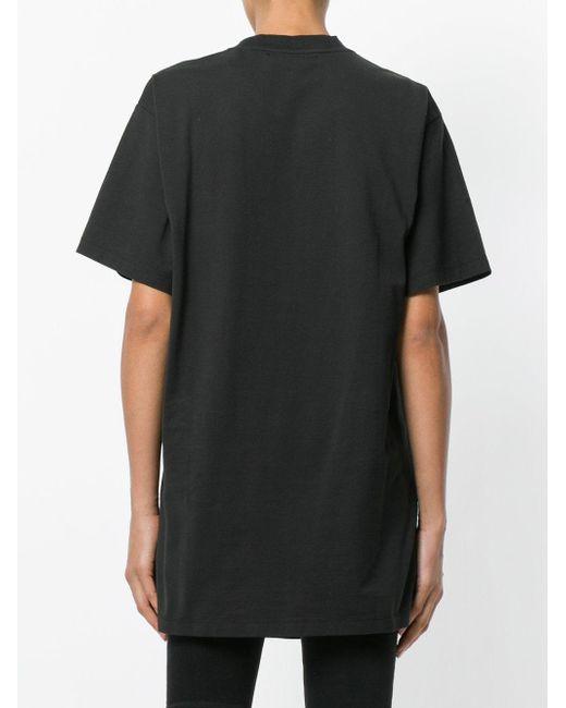 tommy hilfiger rock boyfriend t shirt in black lyst. Black Bedroom Furniture Sets. Home Design Ideas
