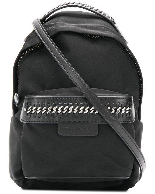dd11e3ac1217 Stella McCartney - Black Falabella Go Mini Backpack - Lyst ...