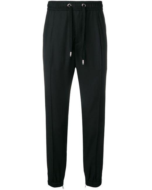 メンズ Dolce & Gabbana フローラル トラックパンツ Black