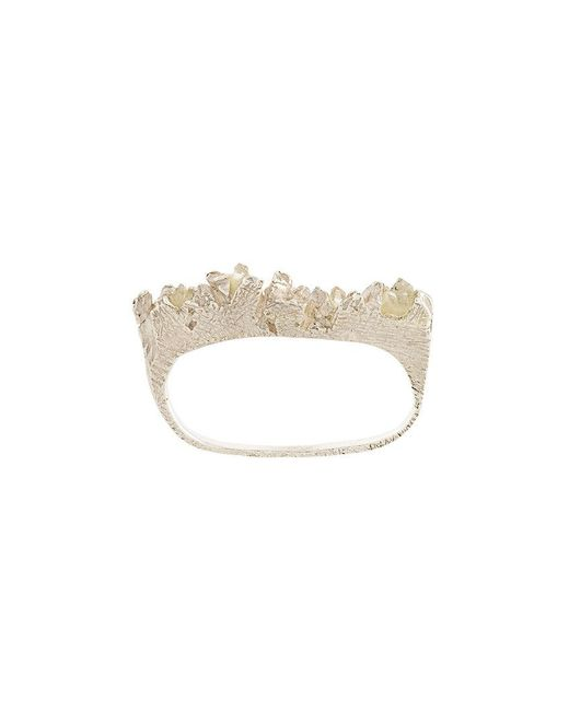 Niza Huang - Metallic Under Earth Double Finger Ring - Lyst