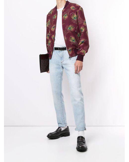 メンズ Dolce & Gabbana プリント ボンバージャケット Red