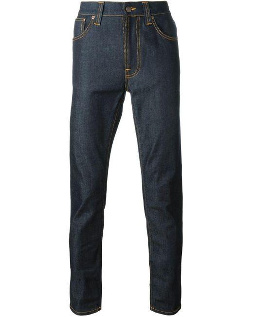 メンズ Nudie Jeans Lean Dean スキニージーンズ Blue