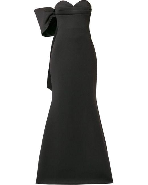 Badgley Mischka リボン ドレス Black