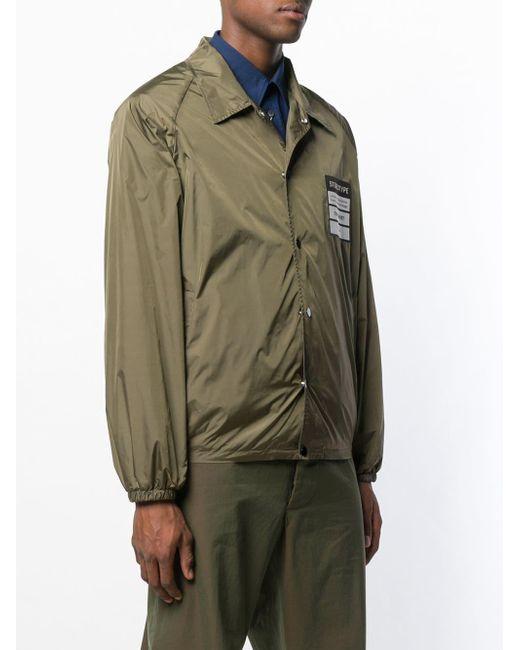 Maison Margiela 'Stereotype' Hemdjacke mit Patch in Green für Herren