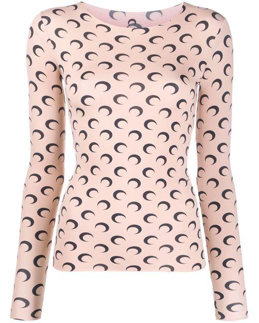 MARINE SERRE プリント Tシャツ Pink