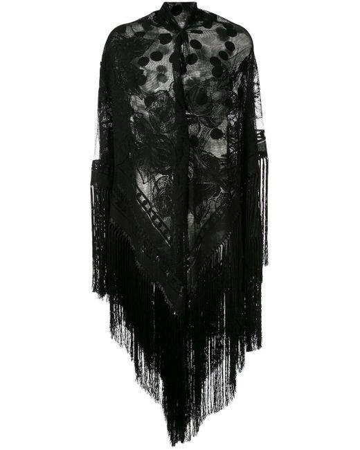 Dolce & Gabbana フリンジショール Black