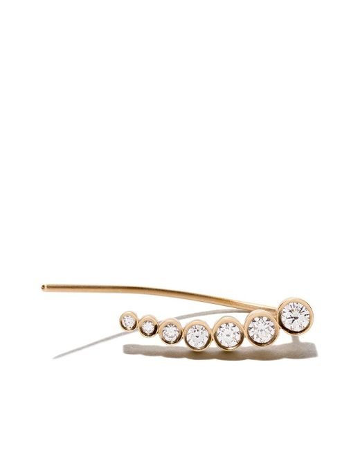 Sophie Bille Brahe 18kt Yellow Gold And Diamond Croissant De Lune Noveau Metallic