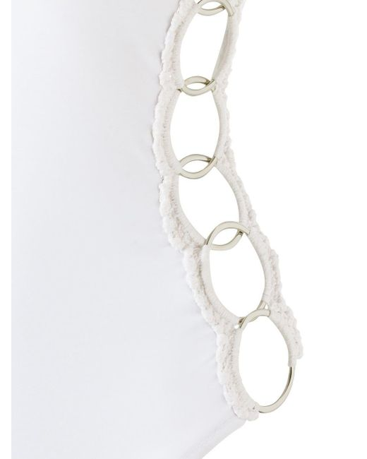 Купальник С Металлическими Деталями Amir Slama, цвет: White