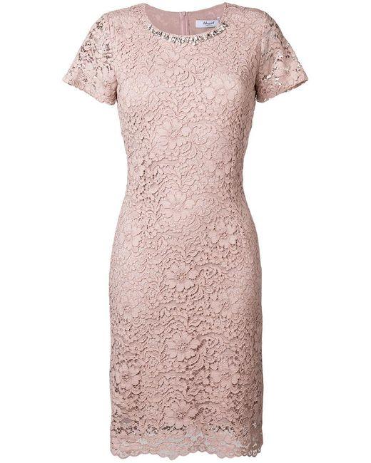 jeweled lace gown - Pink & Purple Blugirl tFxJSN9zzD