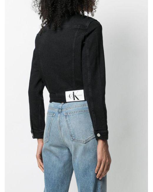 Calvin Klein ロゴパッチ デニムジャケット Black
