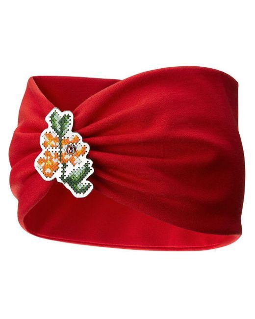 Повязка На Голову Kasia С Цветочной Вышивкой Maison Michel, цвет: Red