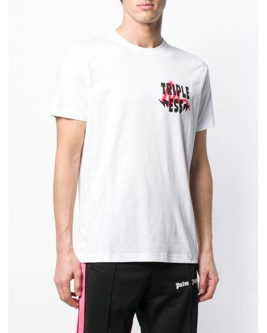 メンズ SSS World Corp Triple Ess Tシャツ White