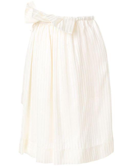 Stella McCartney ブリン プリーツスカート White