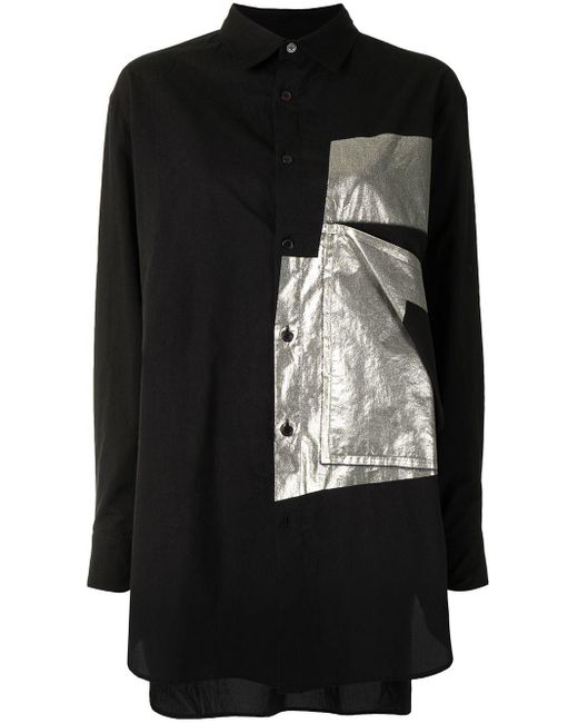 Y's Yohji Yamamoto パッチシャツ Black