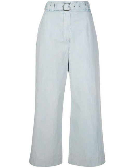 PROENZA SCHOULER WHITE LABEL ベルテッド クロップドパンツ Multicolor