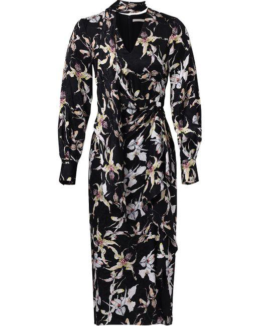 Robe à manches longues Jason Wu en coloris Black