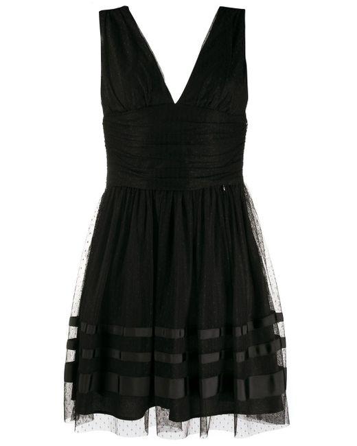 Liu Jo Vネック ドレス Black