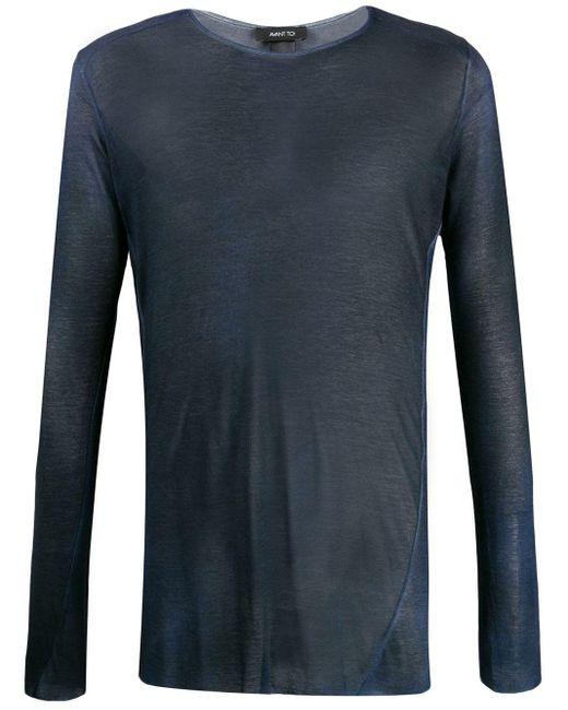 メンズ Avant Toi ファインニット Tシャツ Blue
