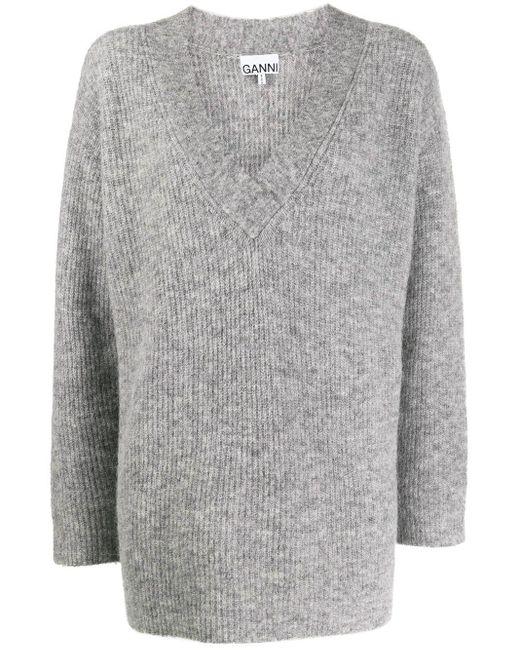 Ganni オーバーサイズ セーター Gray