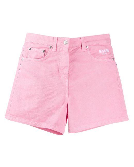 MSGM デニムショートパンツ Pink