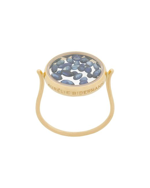 Aurelie Bidermann Metallic 18kt Yellow Gold Chivoir Sapphire Ring