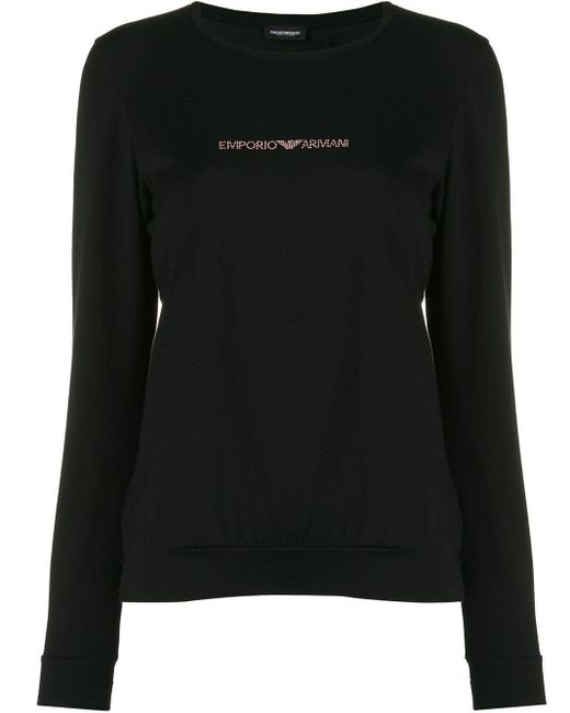 Emporio Armani ロゴ Tシャツ Black
