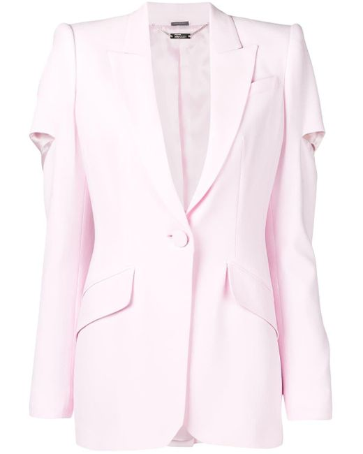 Alexander McQueen カットアウト ジャケット Pink