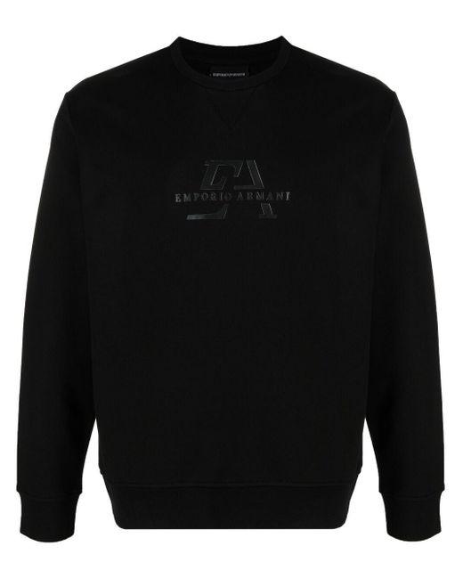 メンズ Emporio Armani ロゴ スウェットシャツ Black