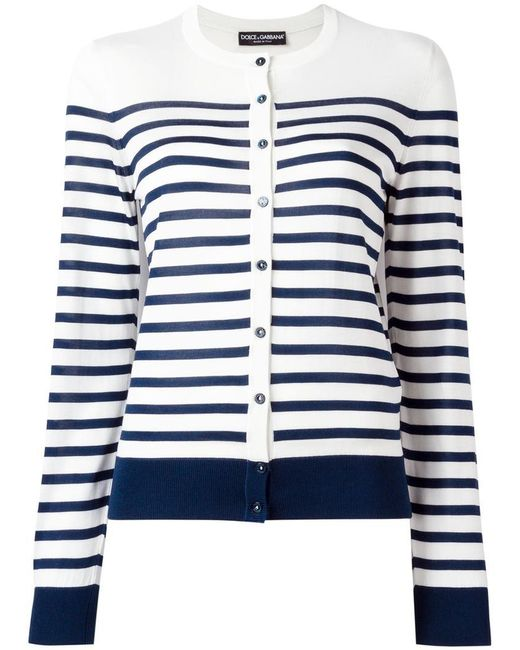 Dolce & Gabbana | White Striped Knitwear | Lyst