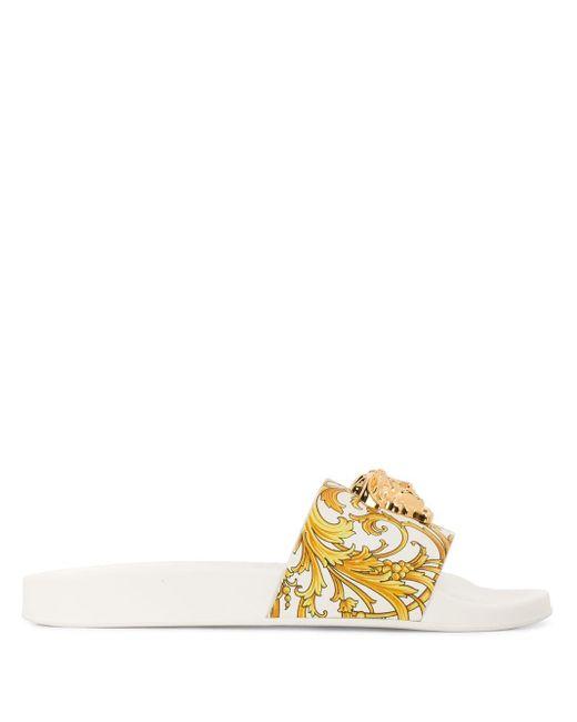 Versace バロッコ メデューサ サンダル White