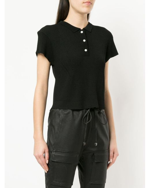 Manning Cartell Black Ribbed Polo Shirt