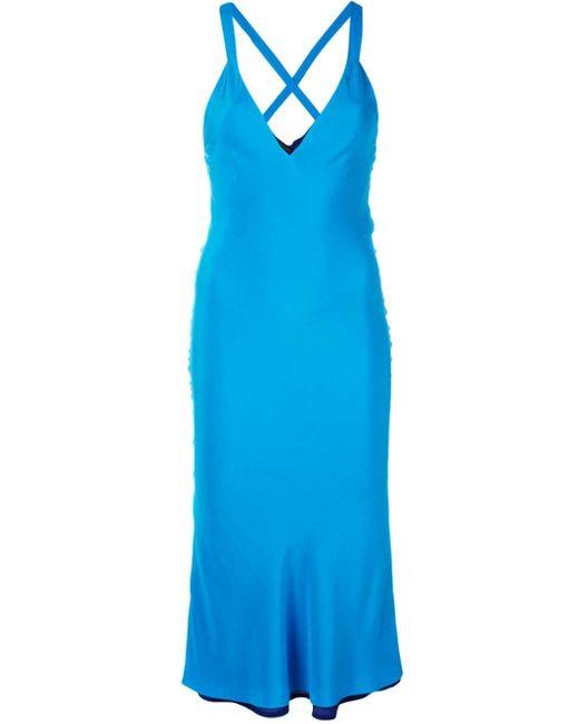 Haider Ackermann Vネック ドレス Blue