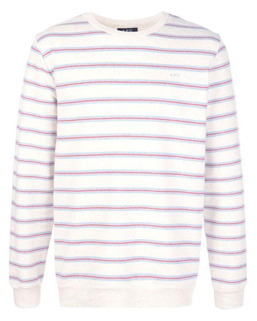 メンズ A.P.C. ストライプ ロングtシャツ Multicolor