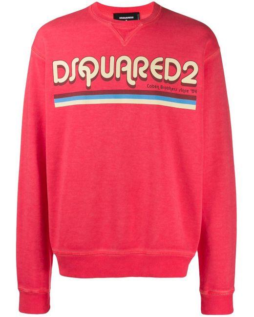 メンズ DSquared² ロゴ スウェットシャツ Pink
