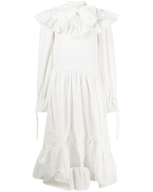 MSGM ラッフル ドレス White
