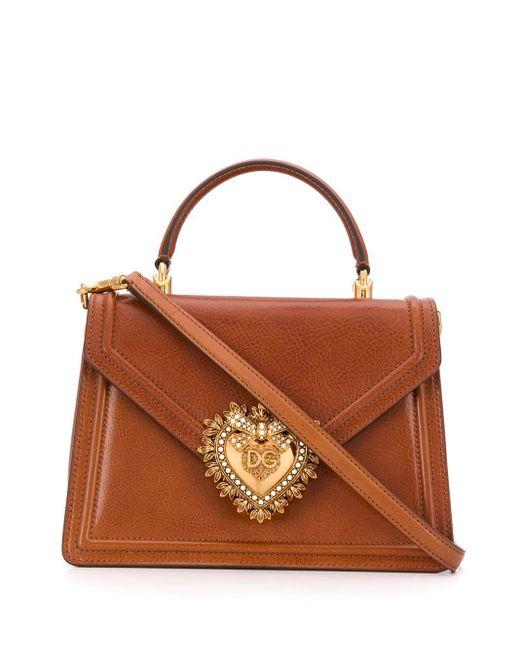Dolce & Gabbana Devotion ハンドバッグ M Brown