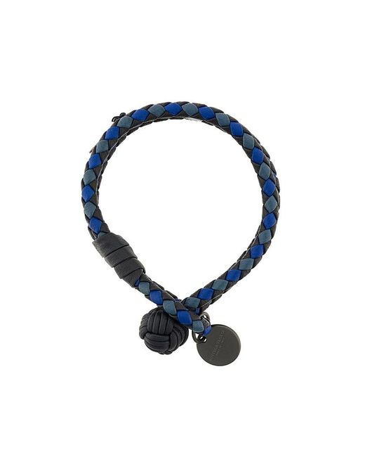 Bottega Veneta denim Intrecciato grosgrain bracelet - Blue